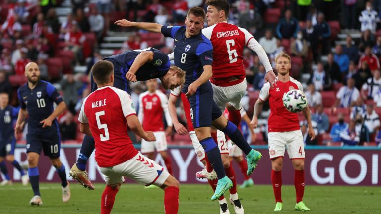Финландия победи Дания с 1: 0 на Евро 2020