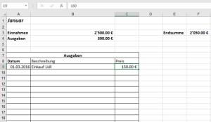vorlage Haushaltsbuch excel