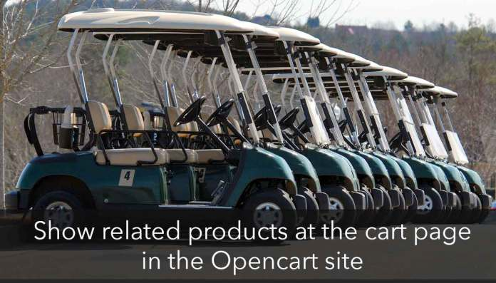 Related products in Opencart