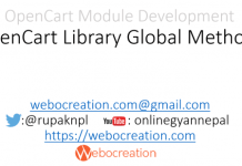 OpenCart_Library_Global_Methods