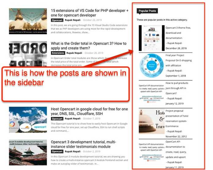 frontend view category wise popular posts