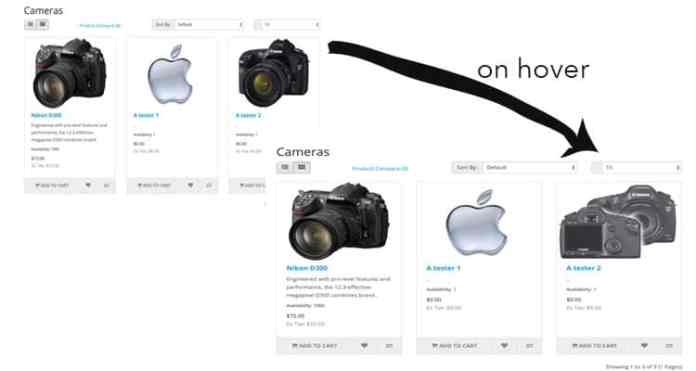 On hover image change opencart