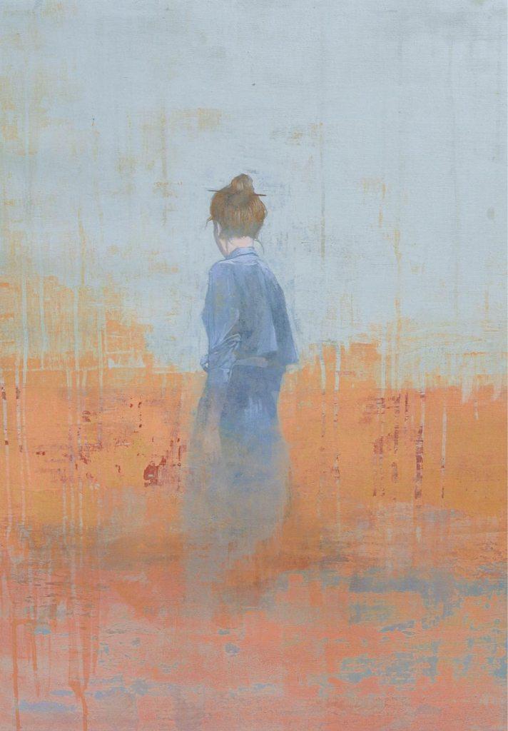 Federico Infante, Untitled I, 2017, acrilico su tela, 78 x 57 cm