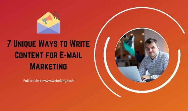 content for e-mail marketing