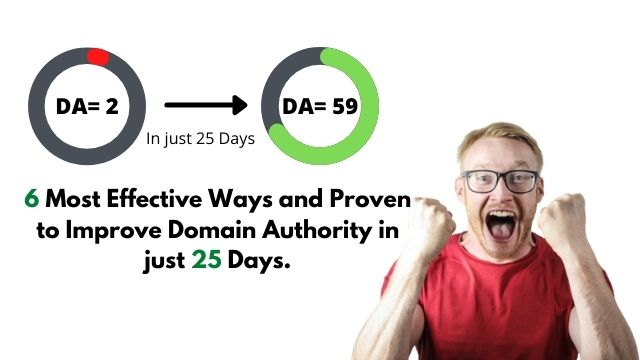 How to improve domain authority in 25 Days