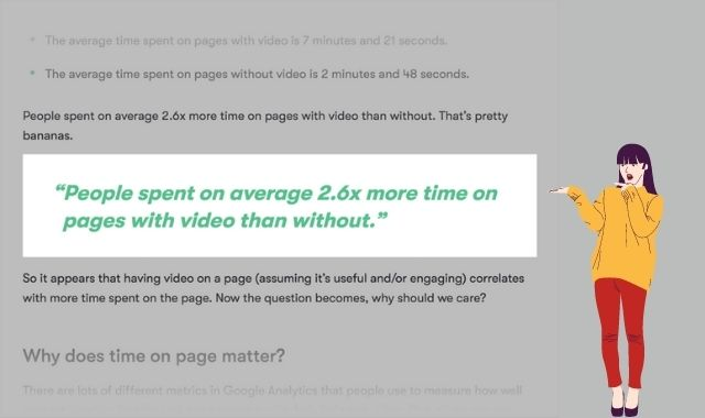 use videos to increase engagement time