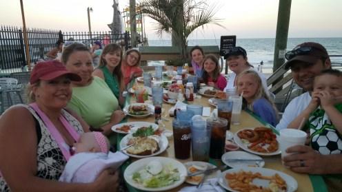 Dinner on Surfside Pier - Yum