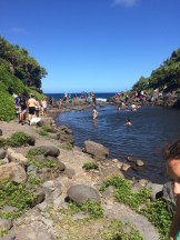 Swimming to cool off at Ohe'o gulch