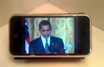 TV on an iPhone using the Orb app