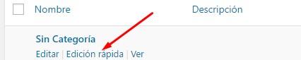 Quitar Sin Categoría después de instalar WordPress
