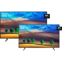 "Smart Tv Led 65″ Uhd 4k Samsung Nu7100, Solução Inteligente De Cabos, Hdr Premium, Plataforma Smart Tizen 3 Hdmi 2 Usb + Smart TV LED 49"" Samsung Ultra HD 4k 49NU7100 com Conversor Digital 3 HDMI 2 USB Wi-Fi"