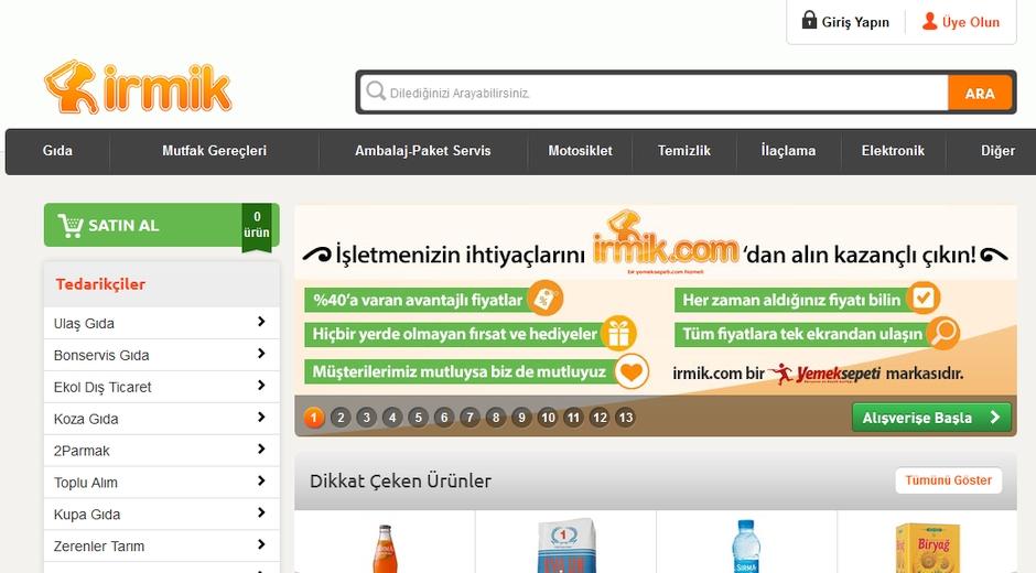 irmik.com yemeksepeti.com