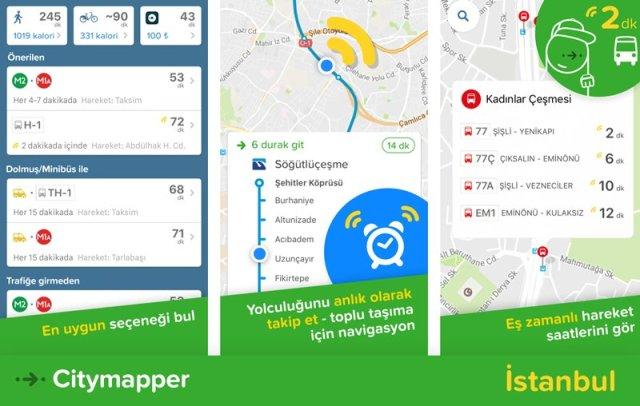 citymapper istanbul ile ilgili görsel sonucu
