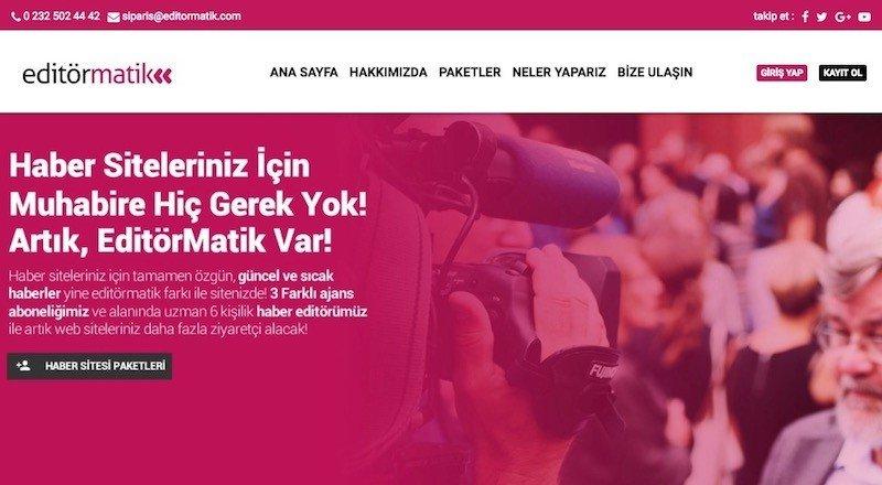 Editormatik.com, içerik ve haber editörü ihtiyacına özel içerik paketleriyle karşılık veriyor