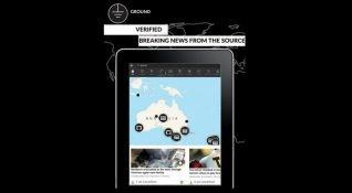 Yerel haberleri harita üzerinde gösteren uygulama: Ground