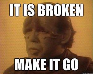 Pakled: It is broken, make it go