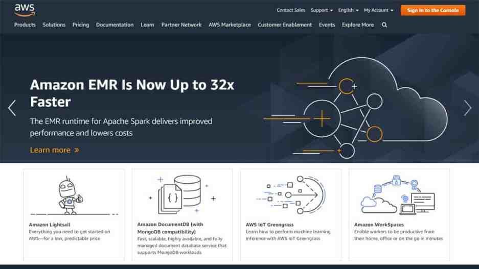 Amazon AWS Best Cloud Hosting Providers