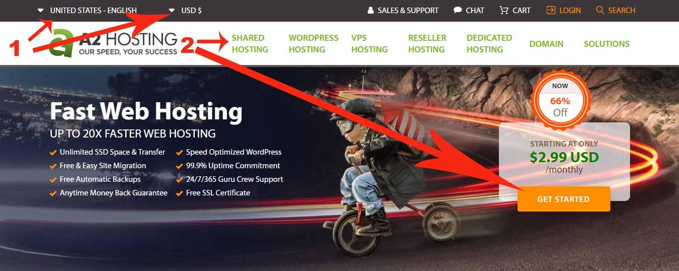 Visit A2 Hosting Website