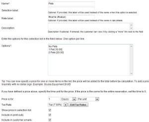 Creating pet fee custom field