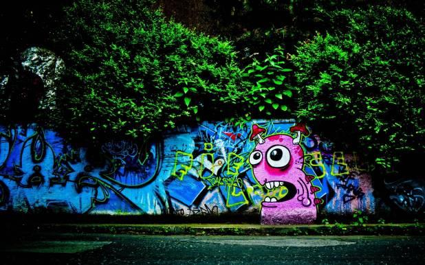 2560 × 1600 Fun Graffiti Background HD Wide Wallpaper