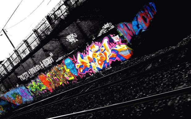 1920 × 1200 Black And White Background Abstract Graffiti