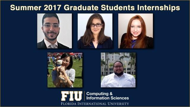 Summer 2017 Graduate Students Internships