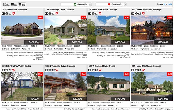 Real Estate Grid Display Web Services Management Durango Colorado-2
