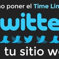 Cómo poner el time line de Twitter en tu sitio web