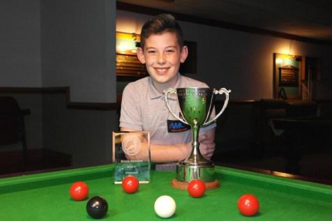 WEBSF Bronze Waistcoat Open Snooker Championship - Winner Liam Davies 2016