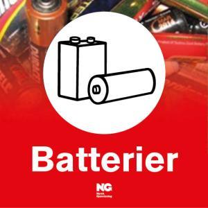 Klebemerke Batterier
