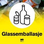Klebemerke Glassemballasje