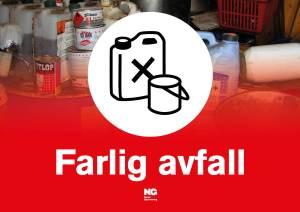 KLebemerke A4 FARLIG AVFALL