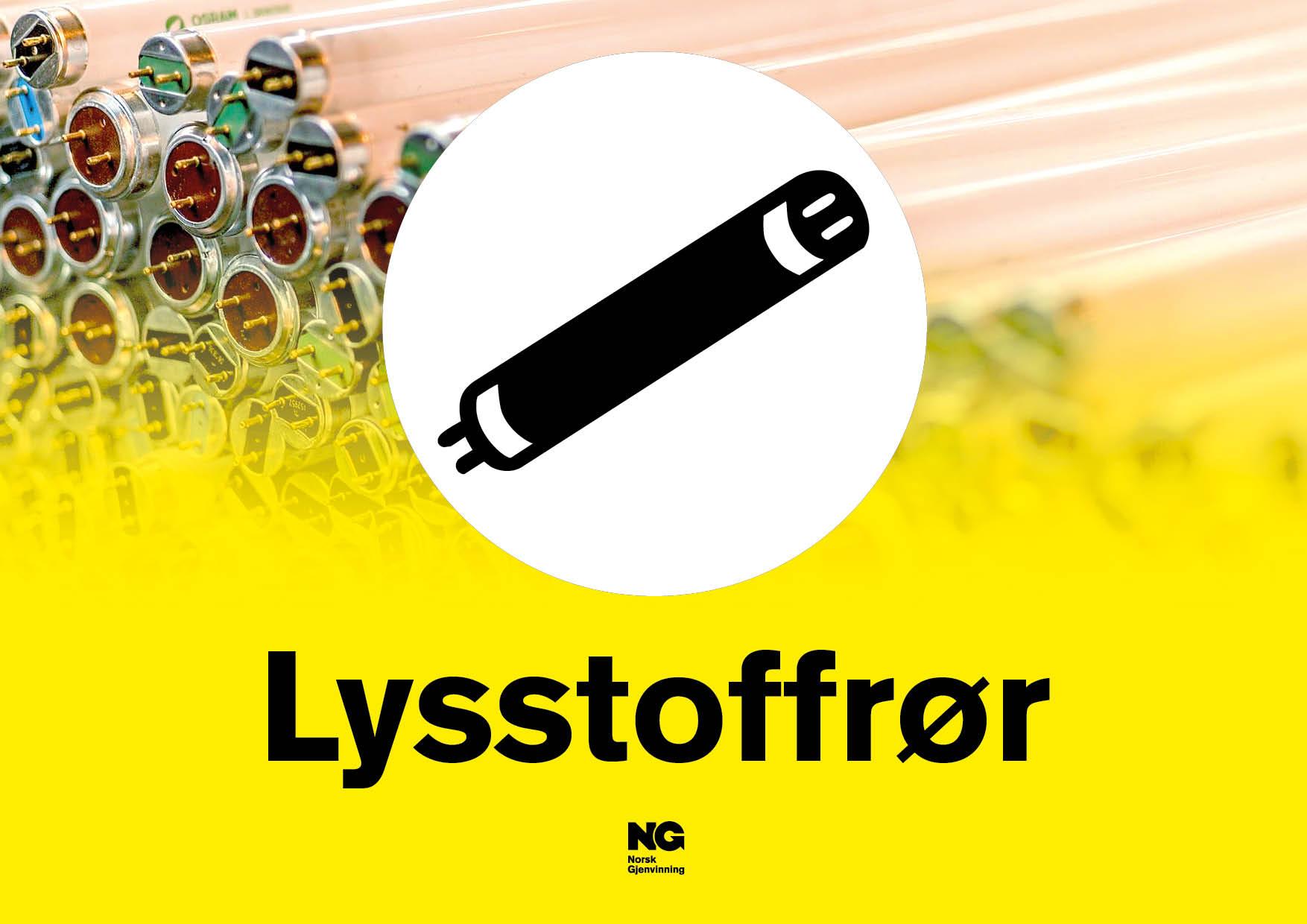 Klebemerke A4 LYSSTOFFRØR