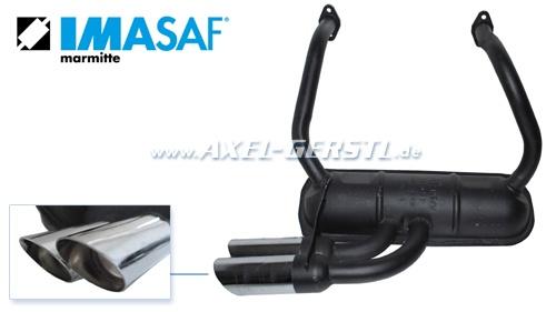 sport exhaust pipe imasaf double tailspout chrome fiat 500 r 126 126 a 5000