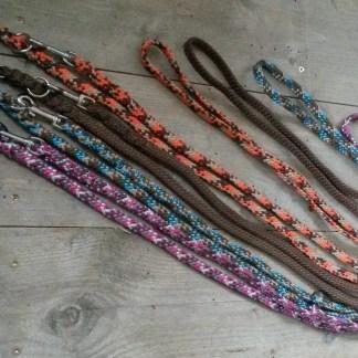 Hondenlijnen, tuigen, halsbanden en anti-teek banden