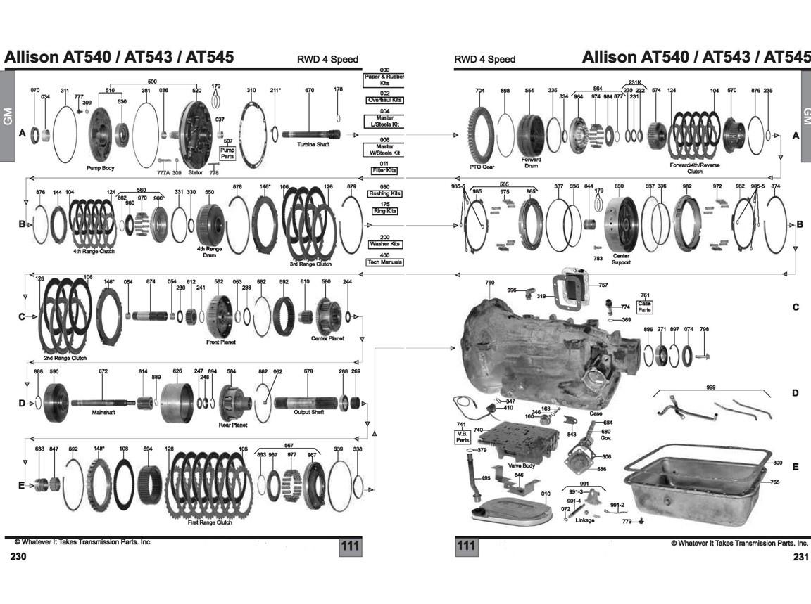 Allison At545 Diagram Allison At545 Transmission Parts