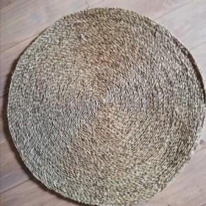 Vloerkleed rond 80 cm zeegras NEW