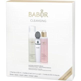 Limited edition - BABOR Cleansing Set - slechts voor korte tijd beschikbaar. Het powertrio voor een zuivere huid. Inclusief reinigingsborstel, cleansing foam en Rose Toning Essence