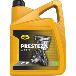 5 L can Kroon-Oil Presteza LL-12 FE 0W-30