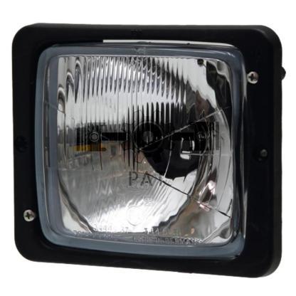 — 4551AA 004109001 — Bilux, zonder stadslicht, met asymmetrisch licht, zwart kunststof draagframe, E1 34446  12V45 / 40WA —