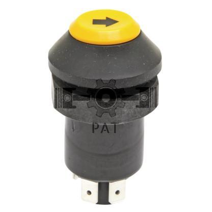 — 50770490180 — voor hefinrichting (toetsknop), knop met symbool, geel, 4 vlakstekkeraansluitingen, —