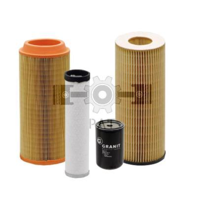 — 80021001 — motoroliefilter, <br> brandstoffilter, <br> luchtfilter, <br> hydrauliekfilter, <br> cabineluchtfilt —