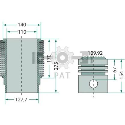 — 154042006 — Deutz,FL 514,Zuiger en cilinderset, 154042006 —