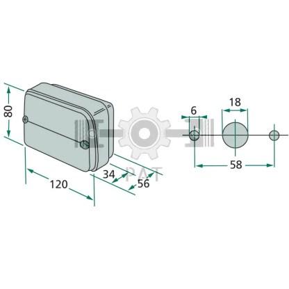 — 22703104000 — voor horizontale montage, met tule   12V21WK / P21W, <br> 12V5WK / R5W —