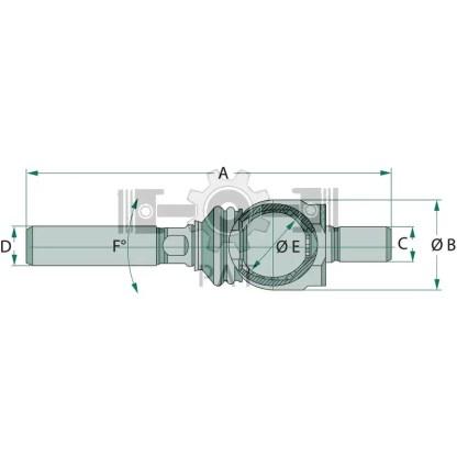 — 38704122 — lengte: 200 mm draad: kort M22 x 1,5, lang M22 x1,5 —