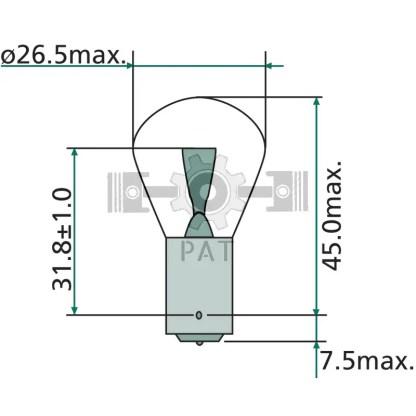 — 47712V21WK — knipper-, rem-, mist- en achteruitrijlicht BA 15 s —