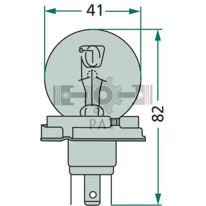 — 47712V45/40WAS — koplamp P 45 t —