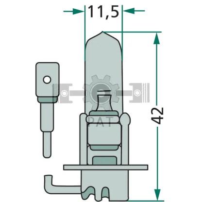 — 47724V70WH3 — kop-, mist-, werklamp en zwaailamp PK 22 s —