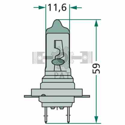 — 47724V70WH7 — kop-, mist- en werklamp PX 26 d —