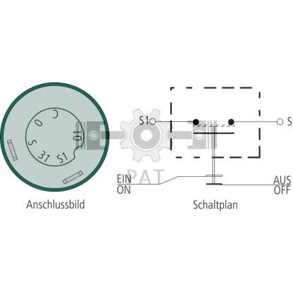 — 50799073 — 2 aansluitingen 6,3 mm, voor het starten van de motor —